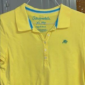 Aeropostale Yellow Collared Shirt